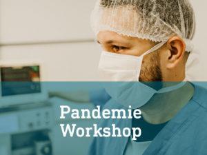 Arzt mit Mundschutz Pandemie workshop Infraprotect